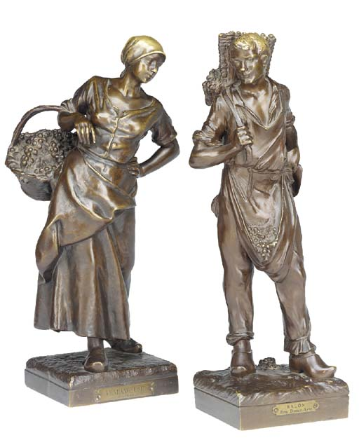 A matched pair of French bronz