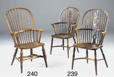 A PAIR OF ASH, BEECH AND ELM W