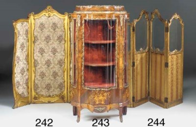 A FRENCH GILTWOOD FOUR FOLD SC