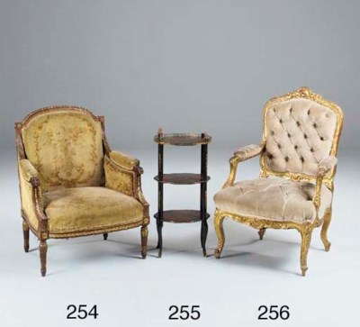 A FRENCH MAHOGANY AND GILT HEI