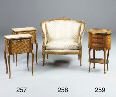 A FRENCH GILTWOOD MARQUISE, LA