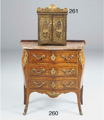A CHINESE EXPORT TABLE CABINET
