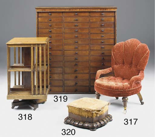 AN EDWARDIAN OAK AND CHEQUER S
