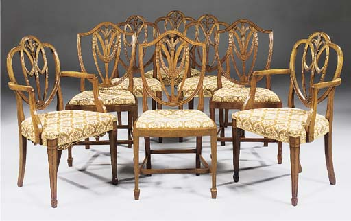 A set of six mahogany dining chairs, late 19th century