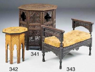 An Indian hardwood stool, late