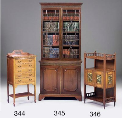 A mahogany display cabinet, ea