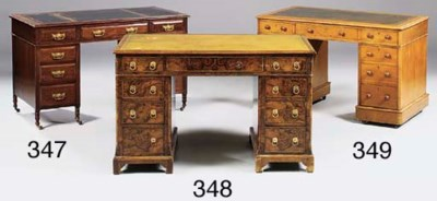 A late Victorian mahogany pede