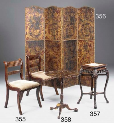 A Chinese hardwood urn stand,