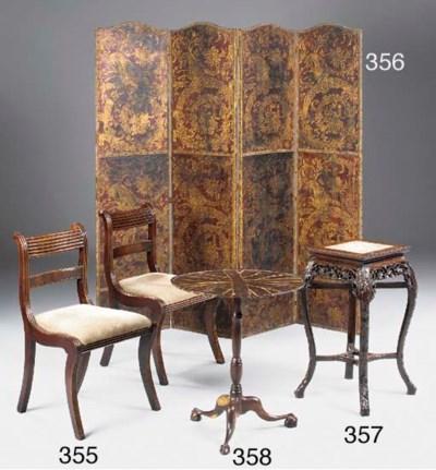 A laburnum tripod table, late