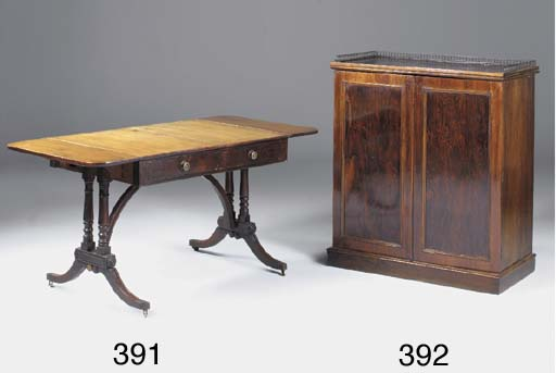 A Victorian rosewood and figur