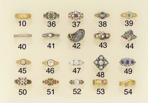 A 19th century diamond ring,