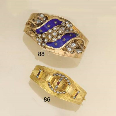 A 19th century gold, ruby and