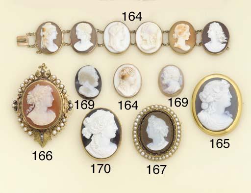 A 19th century shell cameo bra