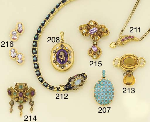 A Victorian gold, turquoise an