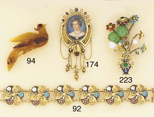 A 19th century gold, gem and e