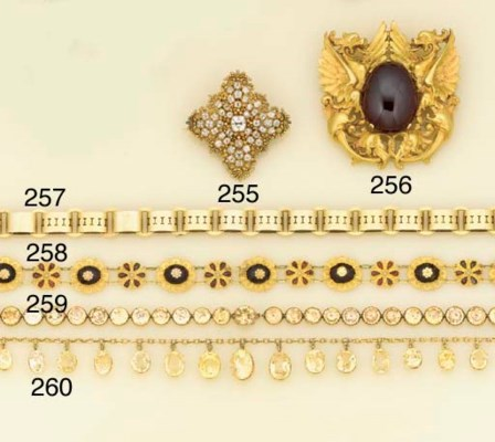 A 19th century gold, garnet ne
