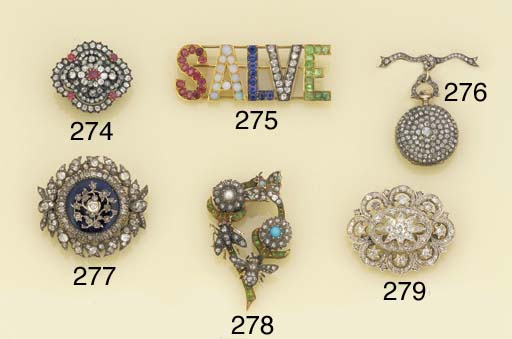 A 19th century gold and silver