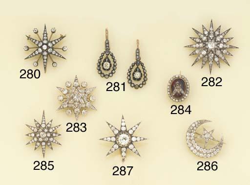 A 19th century diamond star br