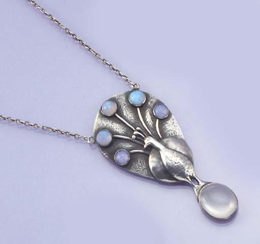 An Arts & Crafts silver, opal