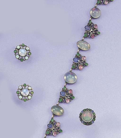 A Sibyl Dunlop opal and gem ne