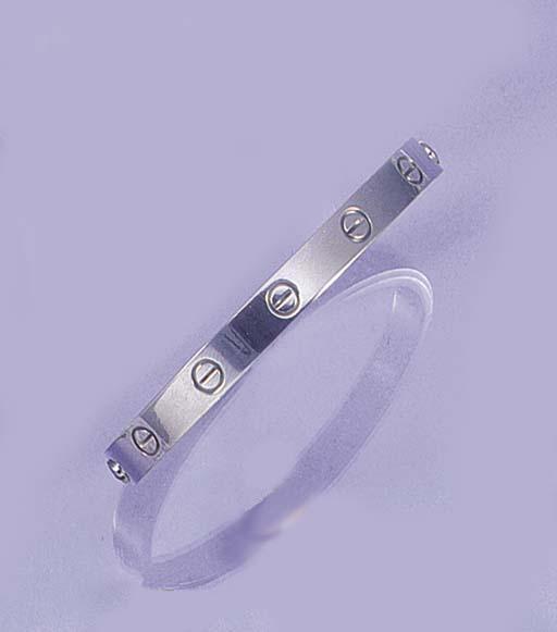 A Cartier white Love bangle