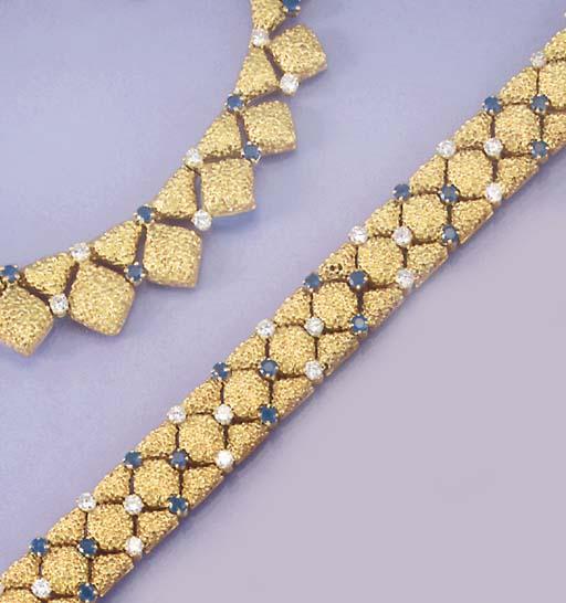 A Tiffany sapphire and diamond