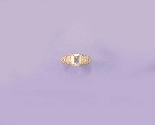 A Boucheron step-cut diamond a
