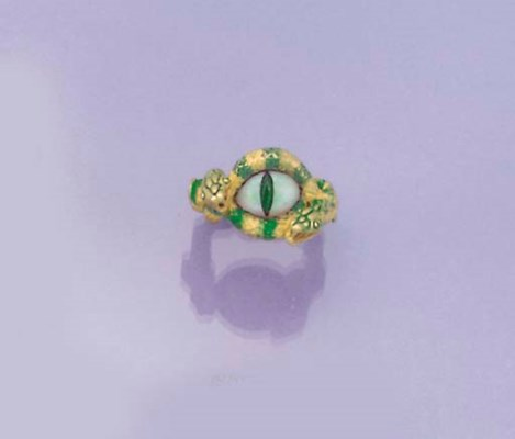 A Kevin Coates gold, opal, eme