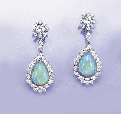 A pair of diamond, marquise di