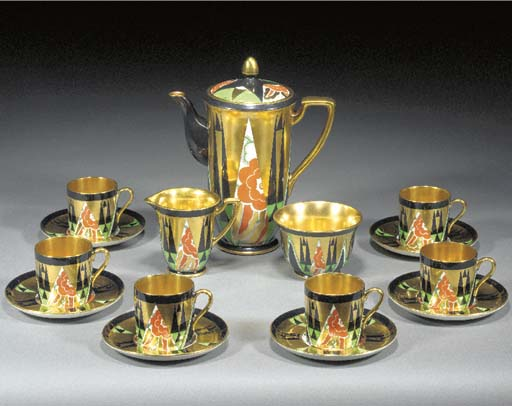 'ORIENT' A COFFEE SET FOR SIX
