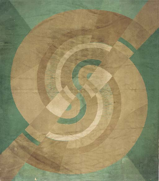 a machine-woven carpet