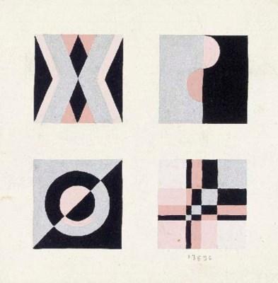 THIRTEEN SETS OF FOUR DESIGN M