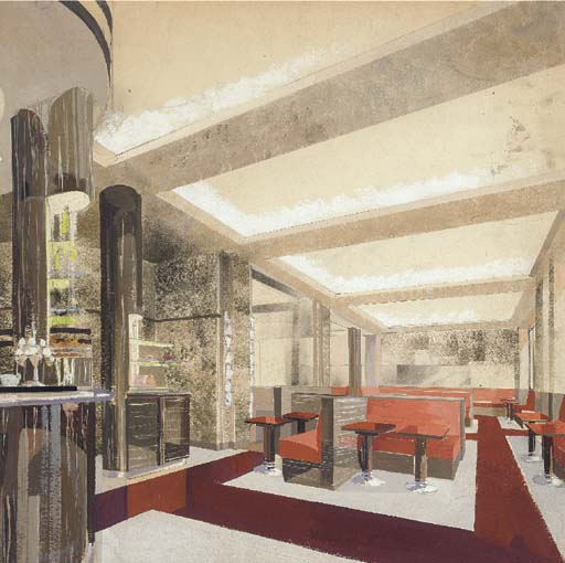 DESIGN FOR A COCKTAIL LOUNGE I