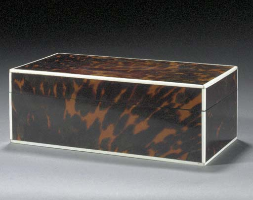 A TORTOISESHELL BOX