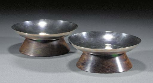 A PAIR OF WHITE METAL AND WOOD