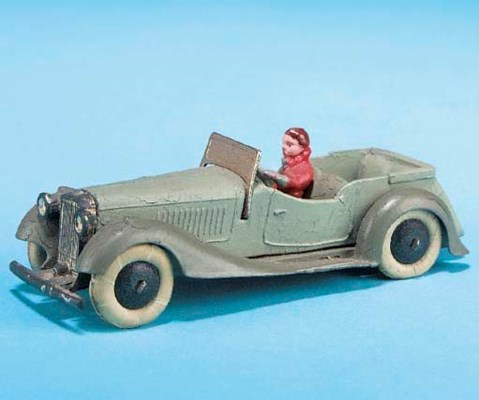 A Dinky pre-war light grey and