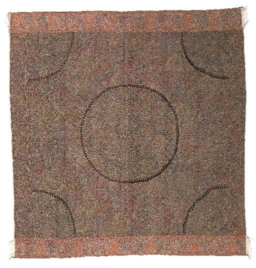 A jamawar 'moon' shawl, woven