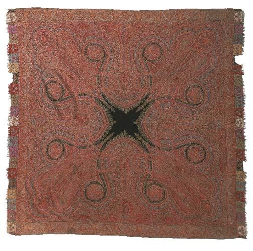 A patchwork jamawar rumal shaw