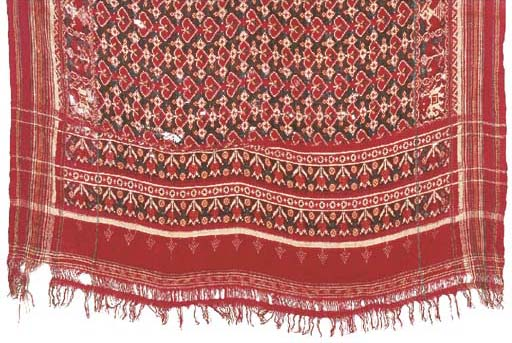 A silk ikat patola, the field