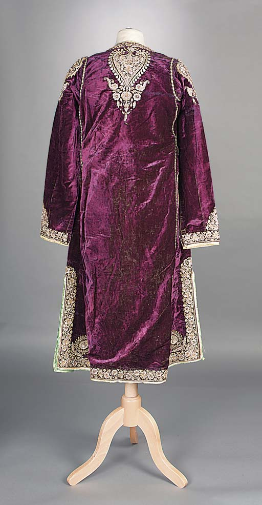 An embroidered jama of purple