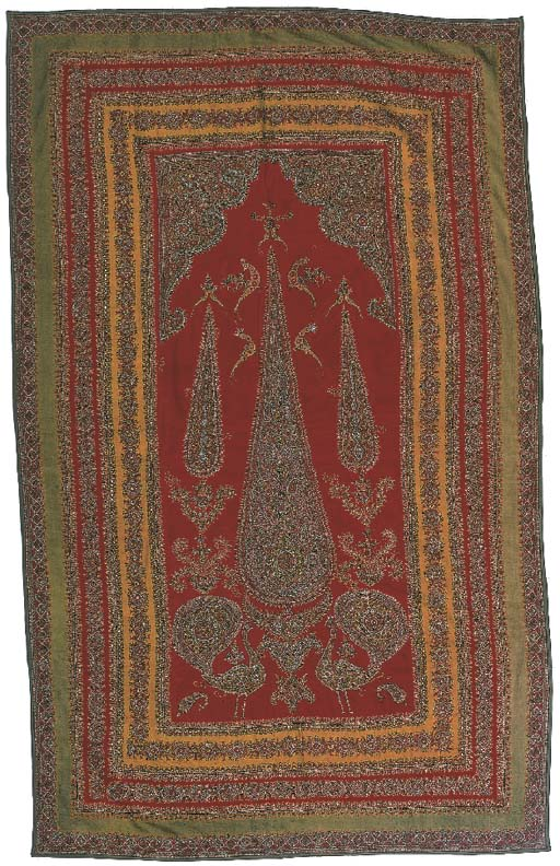 A pateh door curtain, the red