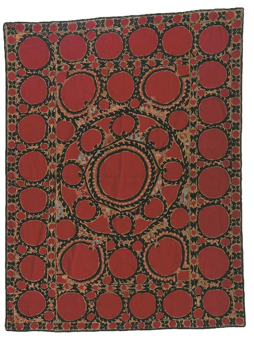 A susani, embroidered in couch