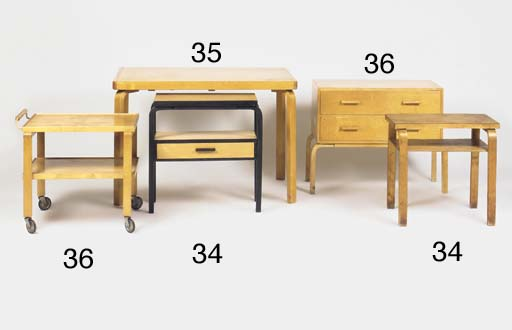 TWO OCCASIONAL TABLES AND AN U