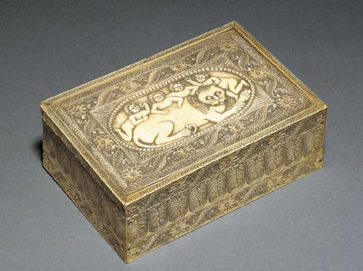 An Anglo-Indian ivory box and