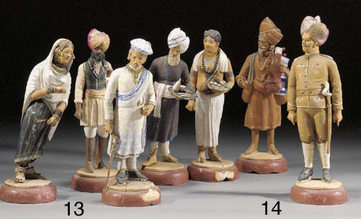 A group of fourteen Indian pai