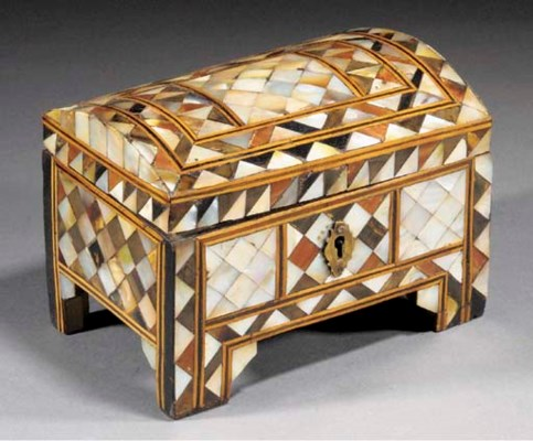 A Turkish inlaid casket 19th C