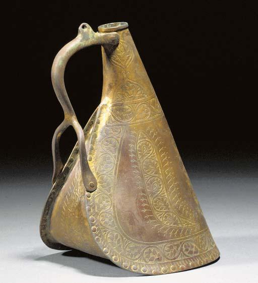 A Tombak gilt copper waterflas