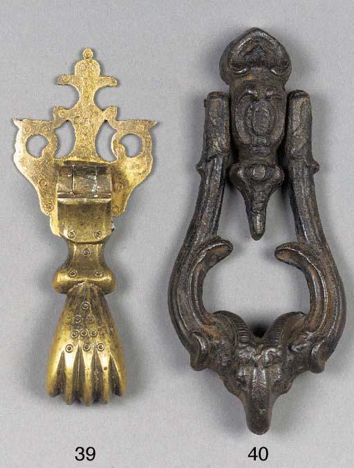 A European bronze door knocker