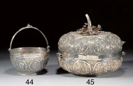 A large Turkish silver box and