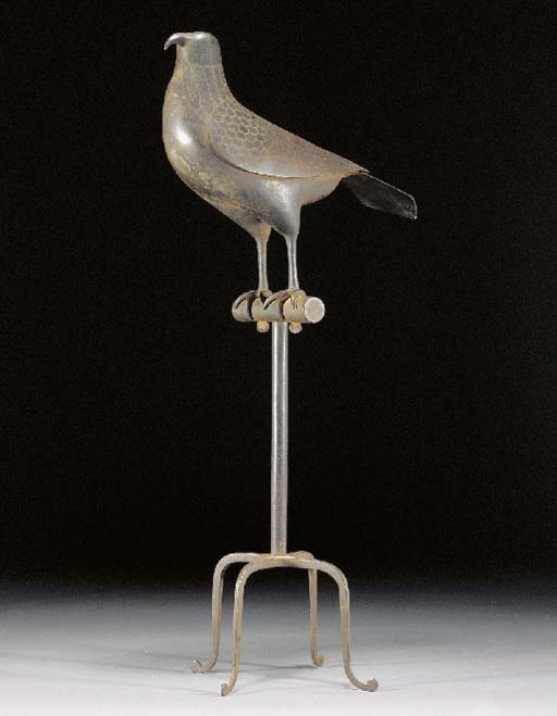 A Qajar steel model of a bird